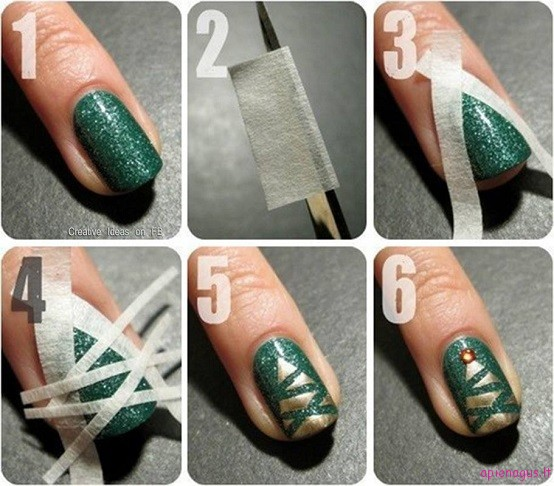 Easy-Christmas-Tree-Nail-Art